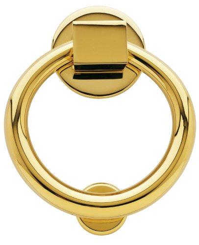 Baldwin 0195 Ring Style Solid Brass Door Knocker, Lifetime Polished Brass
