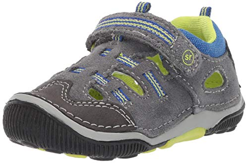 Stride Rite SRTech Reggie Boy's Fisherman Sandal, Grey Multi, 6 W US Toddler