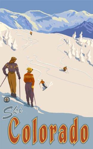 Northwest Art Mall Ski Colorado MSS Wall Art by Paul A. Lanquist, 11-Inch by - Colorado Malls