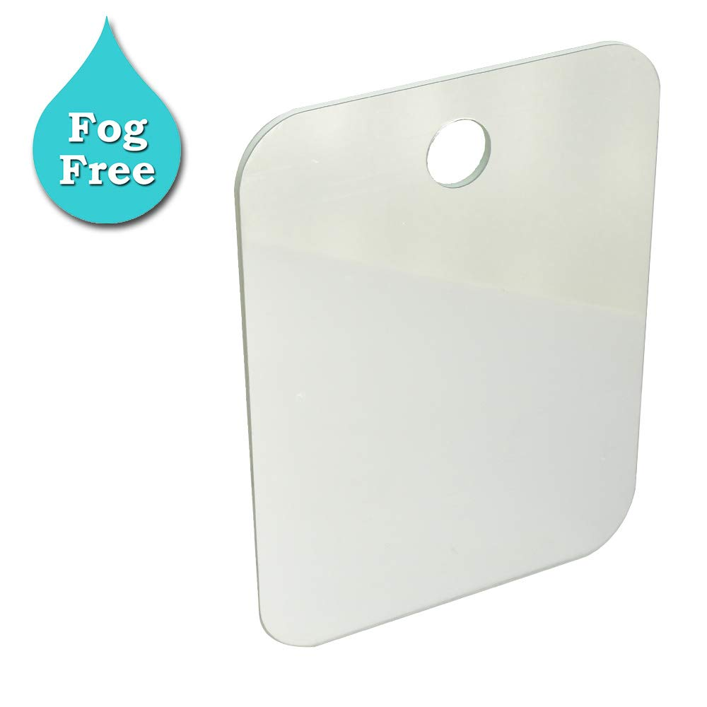 Stritra - Fog Free Fogless Shower Mirror, Portable Size for Travel Baggage, Perfect for Make Up, Shaving in Bathroom or Locker with Hanging Hole AZA038