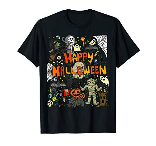 Happy Halloween Scary Retro T Shirt ()