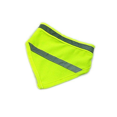 - Encell Set of 2 Dog Reflective Scarf Safety Pet Bandana,Green,M