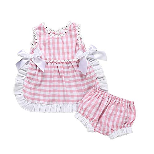 2019 Girls Ruffles Long Sleeve Lace Plaid White T-shirt Tops Wide Leg Pant Trouser 2pcs Outfits Kids Clothing Set1-6t Hot Clothing Sets Girls' Clothing