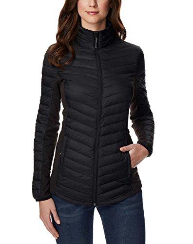 32 Degrees Ladies' Mixed Media Down Jacket (Black, Medium) Outerwear