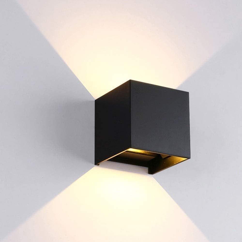 GaLon Lámpara moderna de luz LED de pared - LED arandela de la pared 12V moderno ligero de la pared, Diseño de ángulo ajustable de la viga, IP65 impermeable al aire libre del LED/luz de la pared int