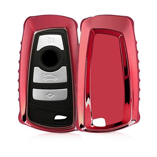 kwmobile autosleutelhoes compatibel met BMW 3-knops draadloze autosleutel (alleen Keyless Go) – TPU beschermhoes in…