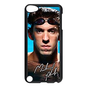 Customize World swimming champion Michael Phelps black plastic Case Fits and Protect IPod Touch 5th at Jany store123 store