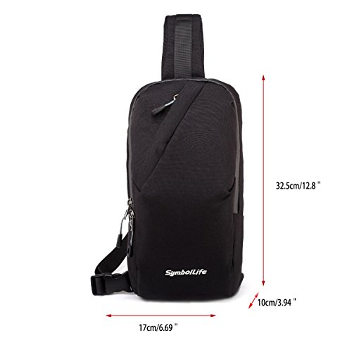 Sports Unbalance Body Symbollife Black And Oxford Chest Bag Outdoor For Men Sling Shoulder Casual Cross Women 5qHw0BwSIx