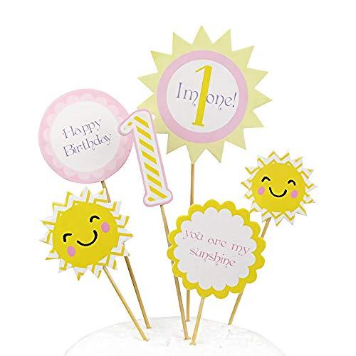 Rainlemon You are My Sunshine Cake Topper Boy Girl 1st Birthday Party Happy Birthday Cake Decoration
