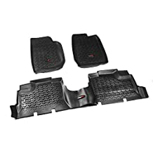 Rugged Ridge 12987.01 Black Front and Rear Floor Liner Kit