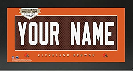 93893d13d Image Unavailable. Image not available for. Color  Cleveland Browns NFL  Custom Jersey Nameplate Framed Sign