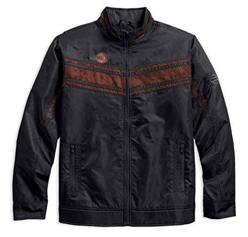 Harley-Davidson Men's Lightweight Mesh Accent Nylon Jacket, Blk 97454-18VM (3XL)