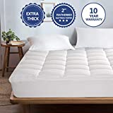 Starcast Mattress Topper Extra Thick (Queen) -Cotton Pillow Top Cooling Fitted Plush Topper Cover (Deep Pocket 8-21Inch)-400TC Down Alternative Quilted Mattress Pads & Abakan