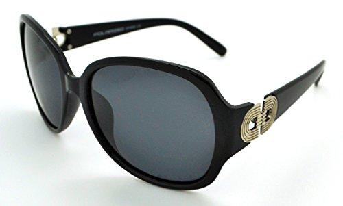 Vox polarisées tendance classique haute qualité pour femme Mode Hot Lunettes de soleil W/étui microfibre gratuit Black Frame - Smoke Lens
