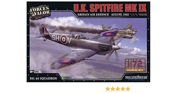 Spitfire MK IX Forces of Valor August 1942 1:72 scale plastic model kit