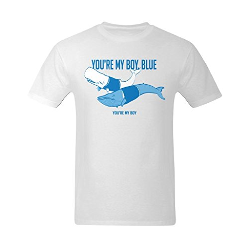 Flesiciate Men You Are My Boy Blue Shark Design Customized Cool Size 2XL Color
