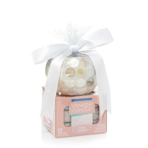 Yankee candle Pink Sands - Coastal Shores Tea Light Candle Holder Gift Set (Tealight Gift Holder)