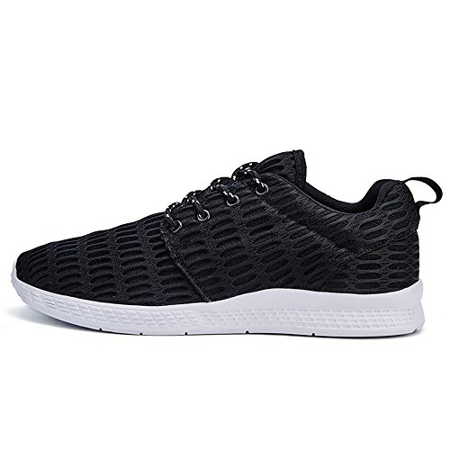 BEFAiR Comfortable Running Shoes For Men Outdoor Casual Breathable Lace-Up Athletic Sneakers Black LlTfHN