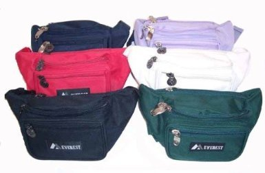 Fabric Waist Pack Many Colors! (White Regular), Outdoor Stuffs