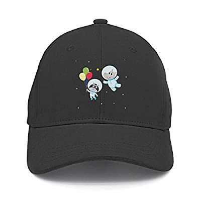 Haydner Moosers Unisex Cat Astronaut Balloon and Hippo Baseball Hats Adjustable Trucker Cap