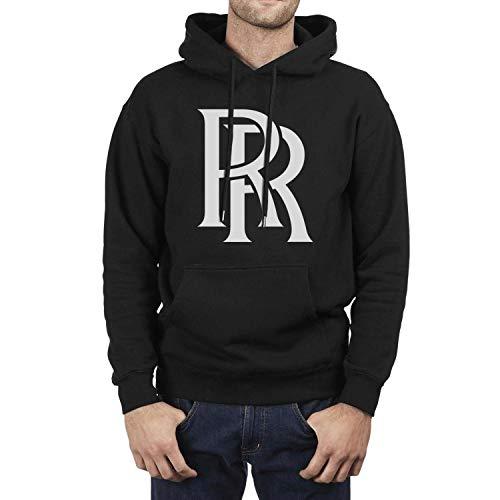 CUSOUL Fashion Boys' Black Hoodie Rolls-Royce-Logo- Fleece Long Sleeve Pullover