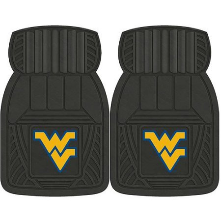 NCAA 4-Piece Front #36572610 and Rear #19888878 Heavy-Duty Vinyl Car Mat Set, West Virginia University by Sports Licensing Solutions LLC