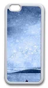 Beach Silhouette Custom iPhone 6 Case Cover TPU White