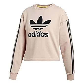 Adidas Sudaderas Crop Trefoil Mujer Rosa CE3719 (36)