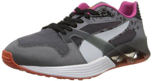 Puma Heren Future Xt-runner Doorschijnend Sneaker Staal Grijs / Zwart / Grijs Violet