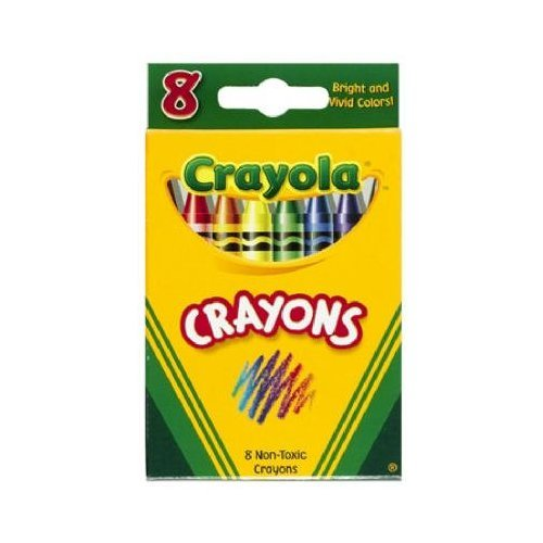 Classic Color Pack Crayons, Tuck Box, 8 Colors/Box