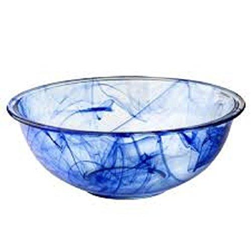 Pyrex 1127970 Watercolor Collection 4-pc Mixing Bowl Set Blue Lagoon