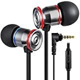 Betron MK23 Earphones Noise Isolating in Ear Headphones with Microphone Bass Driven Sound Tangle-Free Flat Cable for Apple iPhone iPod iPad Samsung