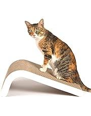LIKEA drapak dla kotów, sztyft do drapania z kociołkiem 【Doskonały karton i konstrukcja, wiele kątów drapania, aby dopasować się do preferencji kota