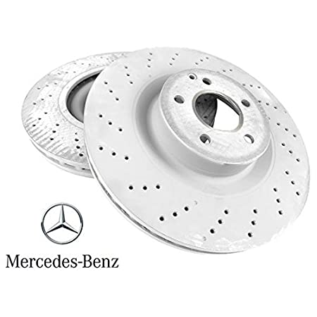 Set of 2 Meyle Front Brake Rotors for Mercedes C250 C300 with Sport Package