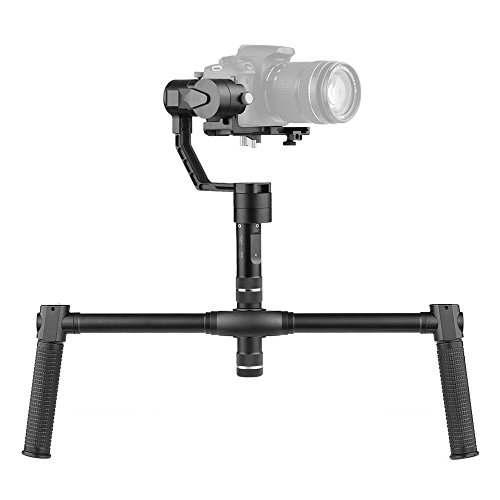 (Zhiyun Crane V2 3 Axis Stabilizer Handheld Gimbal with Dual Handheld Grip for Sony A7 Series Panasonic Lumix Series Canon M Series Nikon J Series Mirrorless ILDC Cameras load Weight 350g-1800g)