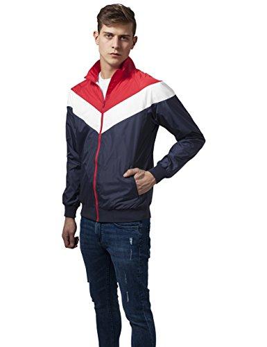 Zip red Jacket wht Cappotto Uomo Arrow nvy Multicolore 858 Classics Urban Eq84HH