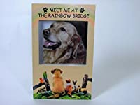 Rainbow Bridge Memorial Frame - Pet Remembrance Picture Frame with Rainbow Bridge Saying - Loss of a Dog - Loss of a Cat