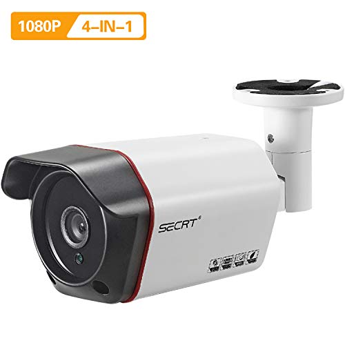 HD 1080P Outdoor Security Bullet Camera, 2.0 Megapixel Sony Sensor Hybrid 4-in-1 HD-CVI/TVI/AHD/Analog Surveillance Weatherproof Indoor 36 LEDs 100ft Night Vision 3.6mm Lens Wired Metal Housing