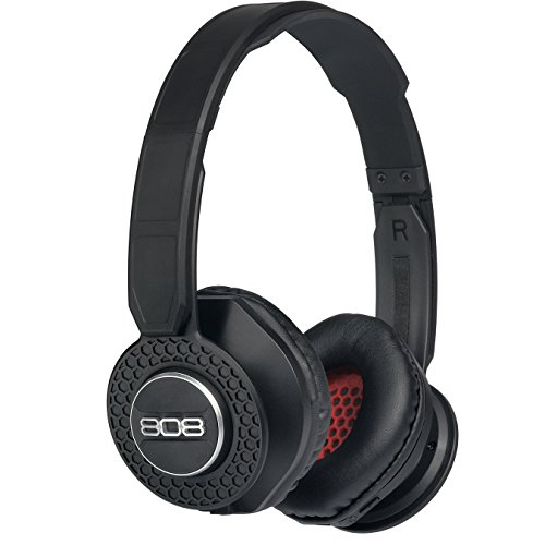 (808 Audio SHOX On-The-Ear Bluetooth Headphones - Black HPA150BK)