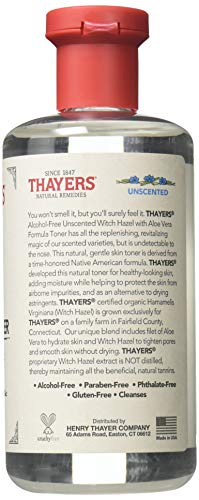 Thayers Unscented Witch Hazel with Aloe Vera Formula, 12 oz.(Pack of 2)
