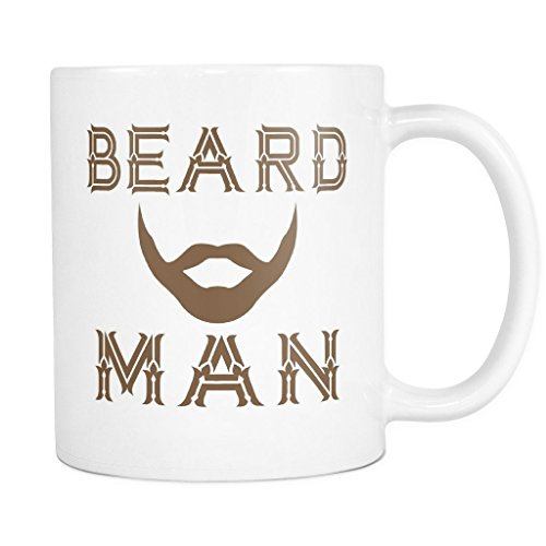 BEARD MAN Coffee Mug, PERFECT PERSONALIZED MEN GIFT for Boss Husband Boyfriend Father Son Guy! Attractive Durable White Ceramic Mug STYLE (Over Logo Infant Beanie)