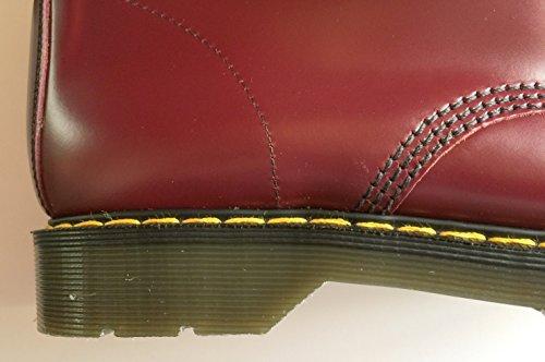 Solovair–stivale in pelle, con punta in acciaio, 20fori/occhielli Cherry
