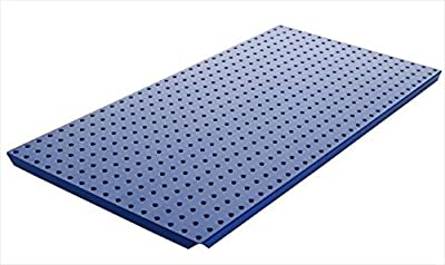 Alligator Board ALGBRD16x32PTD-BLU Blue Powder Coated Metal Pegboard Panels with Flange - Pack of 2