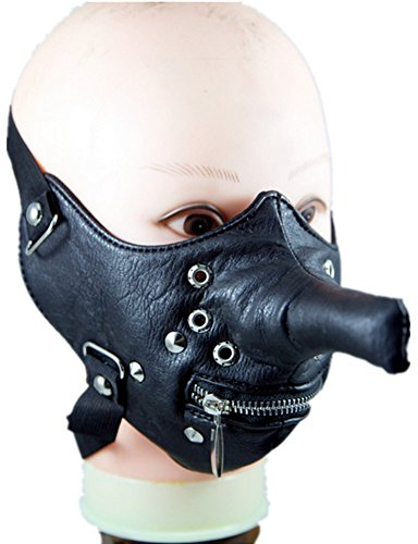 Shu li Men's and Women's New Long Nose Personality Motorcycle Riding Mask by Shu li