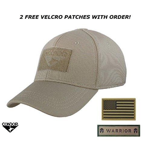 Condor Flex Tactical Cap  + 2 FREE Velcro Flag Patches
