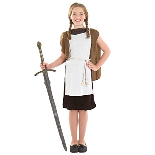 Girls Viking Costume Historical Norse Warrior Medieval Outfit - -