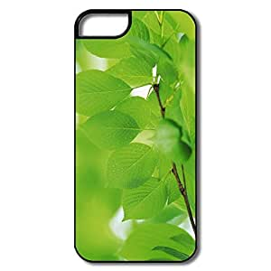 IPhone 5 5S Cover, Branch Green Leaves White/black Cases For IPhone 5S