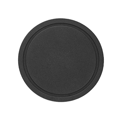 Large Product Image of glacio Coasters - Stainless Steel Holder with Black Silicone Coaster Set - Bar Drink Cup Holders - 6 Pack