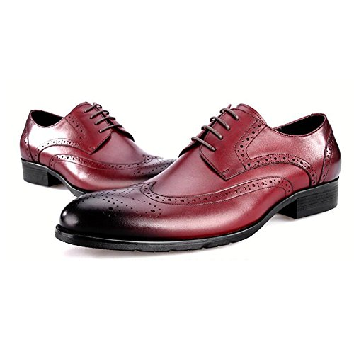 Per Slip Il Tendine Tempo Rosso On Moda Marrone Dress Pelle nero Wedding Da Uomo Scarpe Business Libero In Autunno w8q6x4BtEn