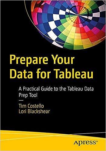 Prepare Your Data for Tableau: A Practical     - Amazon com